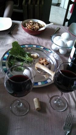This year's seder.  Photo credit C. Matheis.  http://oughtornot.net